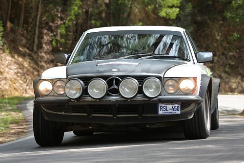 Mercedes Benz 450SL Oldtimer Rallyee Fahrzeug