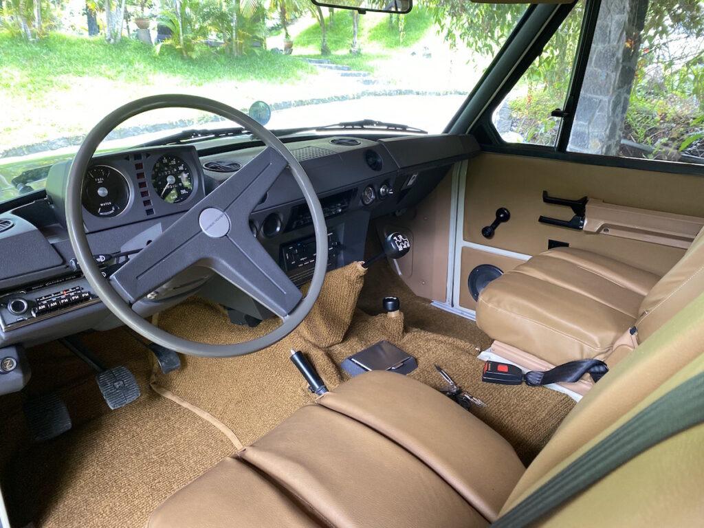 Oldtimer Rallye Autos Touren Range Rover Interior