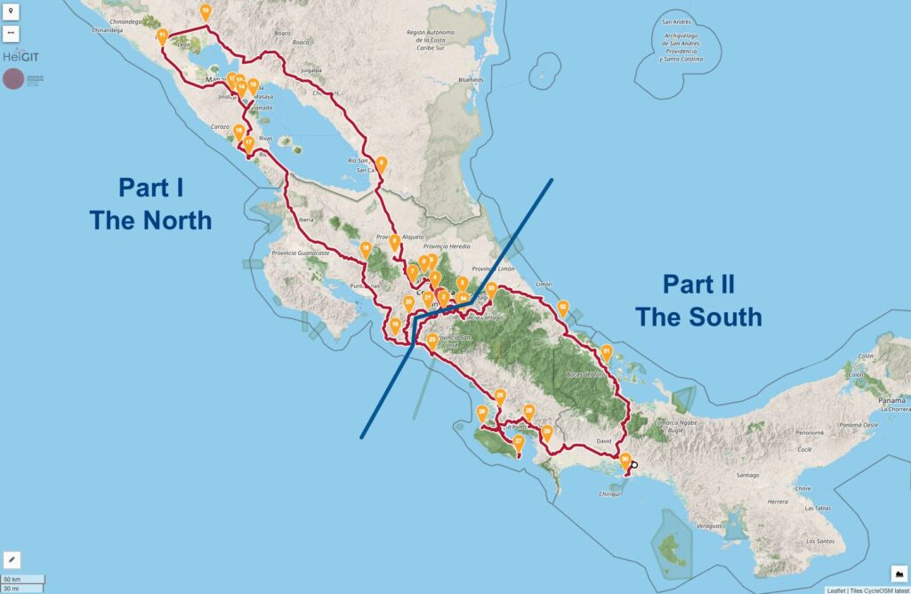 Oldtimer Rallye La Carrera Veragua Reisen Karte